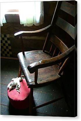 Aunt Tillie's Sewing Chair Canvas Print