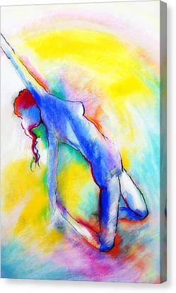 Canvas Print featuring the pastel Aura by Jodie Marie Anne Richardson Traugott          aka jm-ART