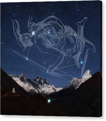 Auriga Over The Himalayas Canvas Print