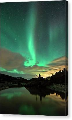 Aurora Borealis And Quadrantids Canvas Print