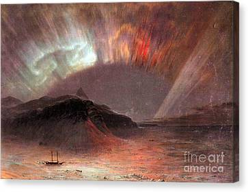 Aurora Borealis By Frederick Edwin Church Canvas Print
