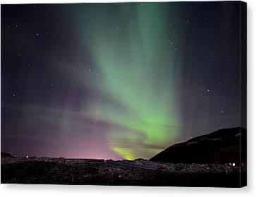 Aurora Borealis Over Iceland Canvas Print