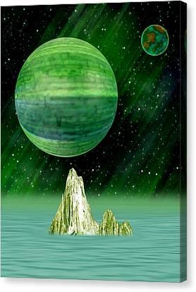 Aurora Borealis Canvas Print by Piero Lucia