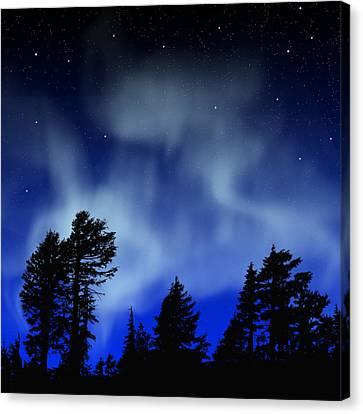 Aurora Borealis Wall Mural Canvas Print