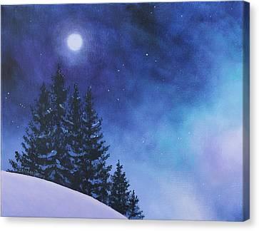 Aurora Borealis Winter Canvas Print by Cecilia Brendel