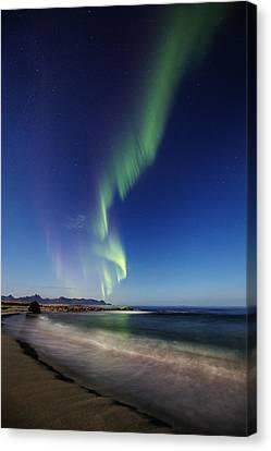 Aurora By The Beach Canvas Print