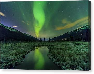 Aurora Valley Canvas Print by Kyle Lavey