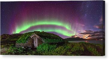 Auroral Over Viking House Canvas Print by Juan Carlos Casado (starryearth.com)