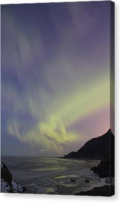 Auroras Over Cook Inlet Canvas Print