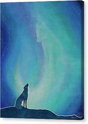 Aurorasong 1 Canvas Print by Bernadette Wulf
