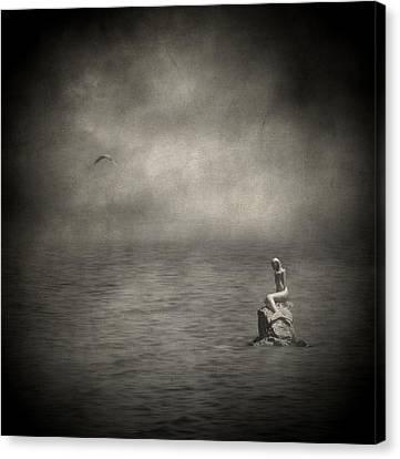Ausencia Presencia Y Una Sirena Canvas Print by Taylan Apukovska