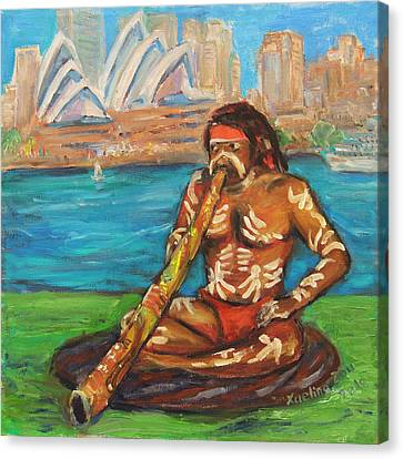 Canvas Print featuring the painting Aussie Dream I by Xueling Zou