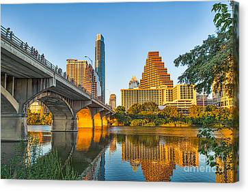Austin City Glow Canvas Print by Tod and Cynthia Grubbs