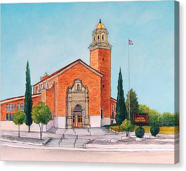 Austin High School Canvas Print by Candy Mayer