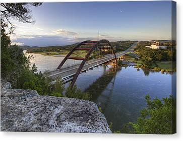 Austin Images - Pennybacker Bridge October Sunrise 2 Canvas Print by Rob Greebon