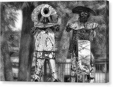 Austin Musical Duo 2 Canvas Print by Linda Phelps