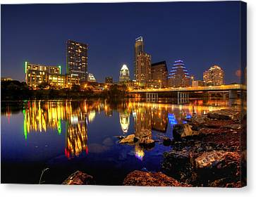 Canvas Print featuring the photograph Austin On The Rocks by Dave Files