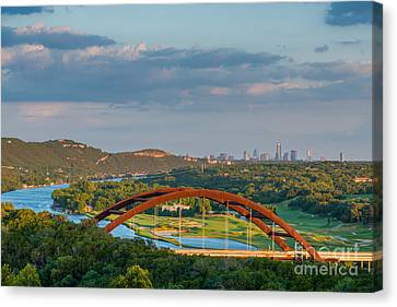 Austin Pennybacker Bridge  Canvas Print by Tod and Cynthia Grubbs