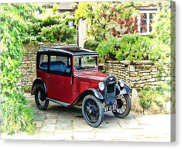 Austin Seven Canvas Print by Paul Gulliver