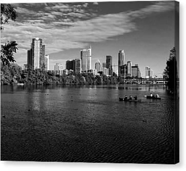 Austin Skyline Bw Canvas Print