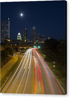 Frost Tower Canvas Print - Austin Images - Downtown And Caesar Chavez 2 by Rob Greebon