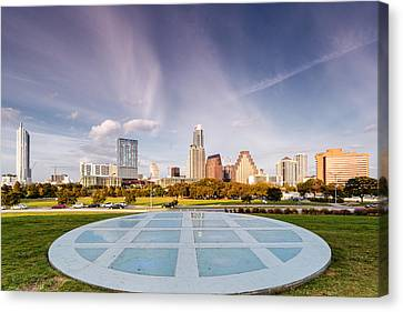 Austin Skyline From The Longs Center For The Performing Arts Canvas Print