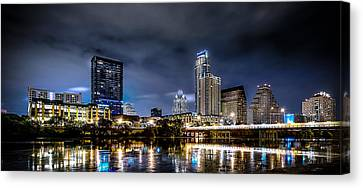 Austin Skyline Hdr Canvas Print by David Morefield
