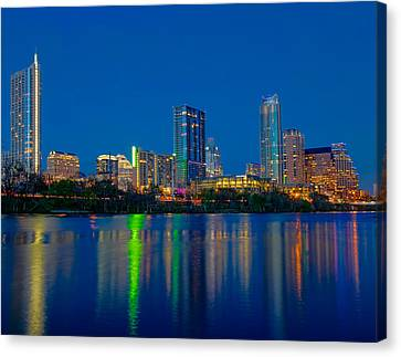 Canvas Print featuring the photograph Austin Skyline by Tim Stanley