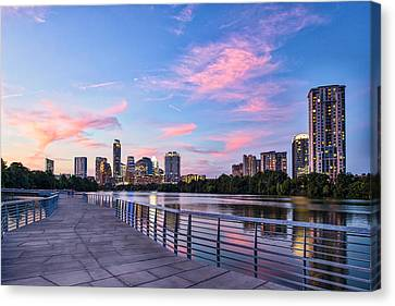 Austin Skyline At Sunset Canvas Print by Tod and Cynthia Grubbs
