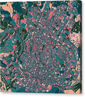 Austin Texas Map Canvas Print