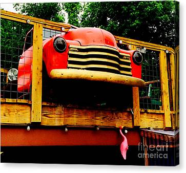 Austin Texas - Maria's Taco Express - Luther Fine Art Canvas Print by Luther Fine Art