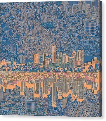 Austin Texas Skyline 2 Canvas Print