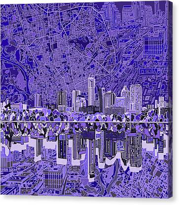 Austin Skyline Canvas Print - Austin Texas Skyline 4 by Bekim Art