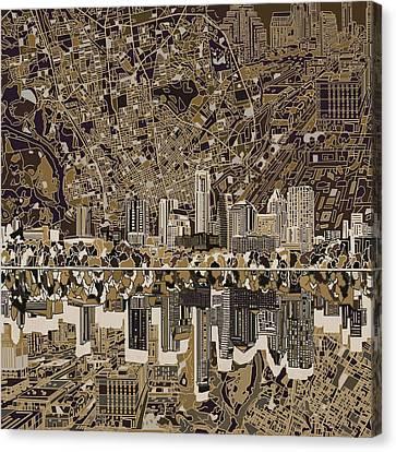Austin Texas Skyline 5 Canvas Print