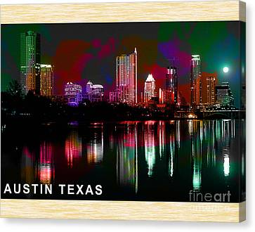 Austin Texas Skyline Canvas Print by Marvin Blaine