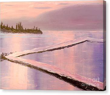 Austinmer Pool At Sunset Canvas Print
