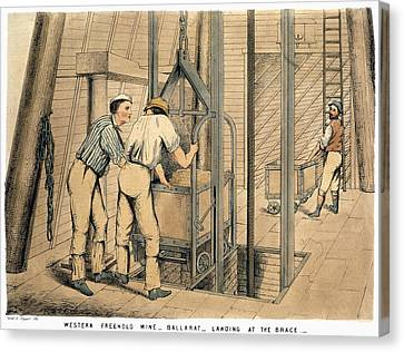 Australia Gold Mine, 1867 Canvas Print by Granger