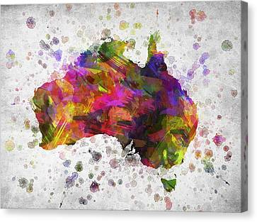 Australia In Color Canvas Print by Aged Pixel