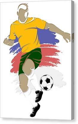Australia Soccer Player3 Canvas Print by Joe Hamilton