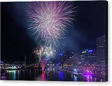 Australia, Sydney, Darling Harbor Canvas Print by Walter Bibikow