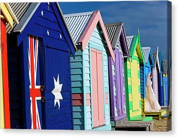 Australia, Victoria, Brighton Beach Canvas Print
