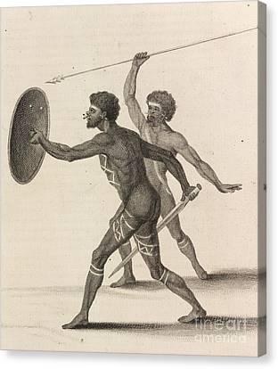 Australian Aborigines, 18th Century Canvas Print by British Library