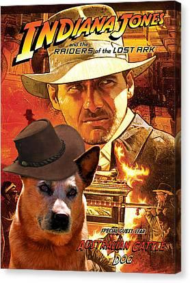 Australian Cattle Dog Art Canvas Print - Indiana Jones Movie Poster Canvas Print