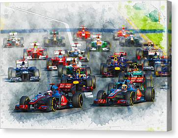 Australian Grand Prix F1 2012 Canvas Print