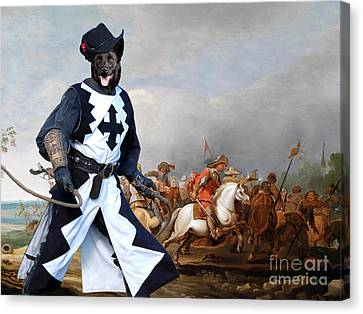 Australian Kelpie Canvas Print - A Cavalry Engagement During The Thirty Years War Canvas Print by Sandra Sij