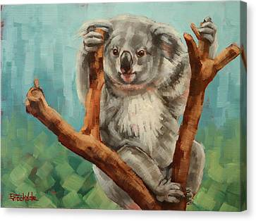 Australian Koala Canvas Print by Margaret Stockdale