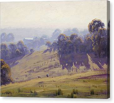 Australian Oil Painting Canvas Print by Graham Gercken