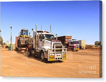 Australian Outback Truck Stop Canvas Print by Colin and Linda McKie