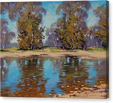 Australian River Canvas Print by Graham Gercken