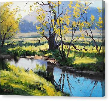 Australian River Painting Canvas Print by Graham Gercken